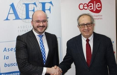 Imagen del acuerdo firmado entre la AEF y CEAJE